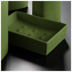 Porta Sapone Verde Muschio - Serie Slim