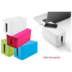 Organizer Multiprese E Cavi Mini Box 23 X 11 X 12 Cm Cable Storage Box - Fucsia