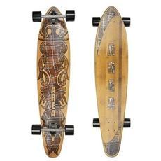 Skateboard Longboard Bamboo Unica Marrone Fantasia