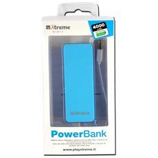 51511B, Polimeri di litio (LiPo) , USB, Blu, Micro-USB, Plastica, Universale