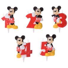 Candela Numerale Topolino Disney Per Torta Di Compleanno - 5