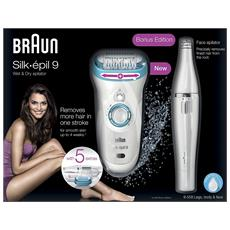 Silk Epil 9-558 Women's Wet And Dry Cordless Epilator With 5 Extras