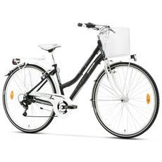 City Bike Trekking Lombardo Mirafiori 250 Donna 28 Ty21 6v Nero