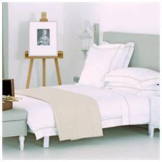 Fairfly Prestigioso Ed Elegante Completo Copripiumino Matrimoniale Lavorazione Artigianale (bianco)