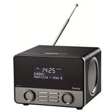 "Digital Radio ""DR1600"", DAB+, FM, Bluetooth, USB, 10W RMS, plastica, nero / argento"