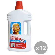 Set 12 Pavimenti Gel Con Candeggina 950 Ml. Detergent