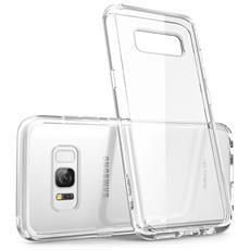 Cover Samsung Galaxy S8 Plus (2017) - Custodia [ halo Series] Trasparente [ antigraffio] L'unione Perfetta Tra Tpu Flessibile Anti Ingiallente E Tpe Che Assorbe E Disperde L'impatto (trasparente 100%)