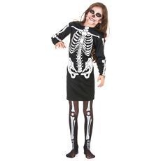 JADEO - Costume Scheletro Per Bambina Halloween 7 A 9 Anni 231ced0caa90