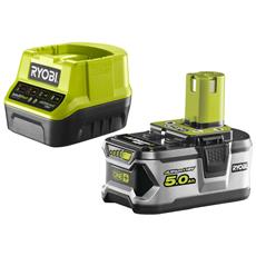 Battery Pack Ryobi 18v 5.0ah Oneplus Lithiumplus - 1 Caricabatterie Rapido 2.0ah Rc18120-150
