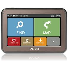 """Spirit 5400 LM Display 4.3"""" Touchscreen Mappe Europa Occidentale"""