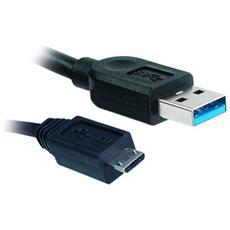 570580, USB A, Micro-USB B, Maschio / maschio, Dritto, Dritto, Nero