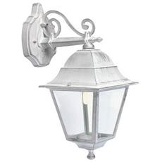 Applique in basso classica lampada da parete per esterno bianco-argento 6pz