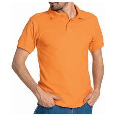 Polo Mezza Manica In Cotone Piquet Colore Arancio Taglia 2xl