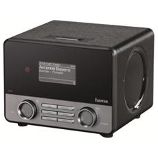 "Internet Radio ""IR110"", Wifi, LAN, App, USB, 10W RMS, telecomando, plastica, nero"