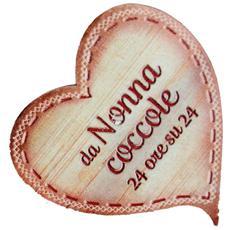 targhetta in legno Cuore con magnete da Nonna coccole
