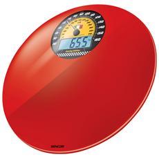 Bilancia Pesapersone Digitale e Analogica Portata Max 180 Kg Colore Rosso