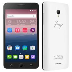 "Pop Star 5 Bianco 8 GB 4G/LTE Dual Sim Display 5"" Slot Micro SD Fotocamera 8 Mpx Android Italia"
