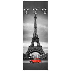 Appendiabiti Da Parete 49x139 Cm Parigi - Dyane Rossa