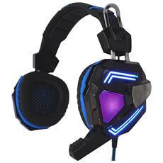 Cuffie con Microfono Cablato Cyclone Colore Nero Blu