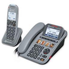 PowerTel 1880 Telefono DECT colore Nero, Grigio