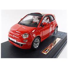 DieCast 1:24 Auto Fiat 500 Cabrio Rossa 21052