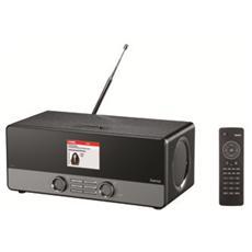 "Internet Digital Radio ""DIR3100"", DAB+, FM, Wifi, LAN, App, Spotify, 10W RMS, telecomando, legno, nero / argento"