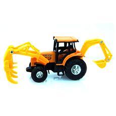 Escavatore Terna Forcone 1:63 Metallo Die Cast Cm 15x6x5 Per Bambini Di 3 Anni + Eta'