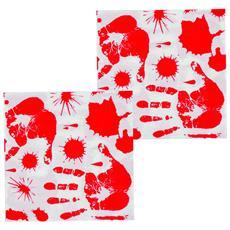 12 Tovaglioli Di Carta Con Impronte Di Mani Insanguinate Taglia Unica