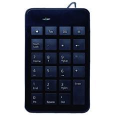 ML300894, USB, Alfanumerico, Cablato, Nero, Plastica, Monotono