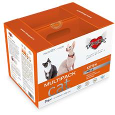 Kitten Pollo - Multipack Rikarica 2 Kg (4 Confezioni Da 500 G) Gattini