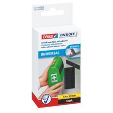 pz. 1 Velcro adesivo universale nero Tesa 55224-00002-02