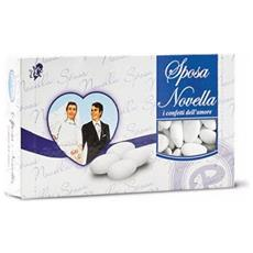 Confetti Bianchi Con Mandorla Sposa Novella 1 Kg