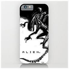 Alien Per Iphone 6 Plus Case Xenomorph Black E White Comic