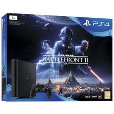 SONY - Console Playstation 4 PS4 1 Tb Slim Black + Star Wars Battlefront 2 Limited Bundle