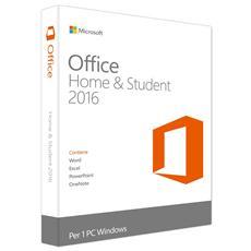 Office Home and Student 2016 - 1 licenza per 1 utente PC - Versione Medialess Italiano