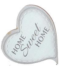 targhetta in legno Cuore con magnete line Shabby Home Sweet Home
