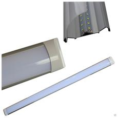 Plafoniera Slim Soffitto Applique Luce Led 44w Bianco Freddo 6500k Lampada 121,5 Cm