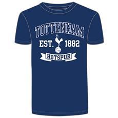 Maglietta Manica Corta Con Stemma Uomo (xl) (blu Navy / bianco)