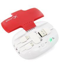 207722, Polimeri di litio (LiPo) , USB, Rosso, Bianco, Smartphone, Tablet