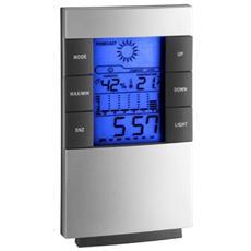 Stazione Meteorologica Elettronica per il Monitoraggio della Temperatura e Umidità dell'aria Interna Argento 351087