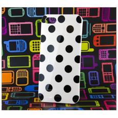 Custodia Cover Per Iphone 5 Tpu Bianco Pois Neri