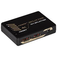 SPLITTER 4 PORTE HDMI 4Kx2K 30 Hz VERSIONE 1.4 CON HDCP