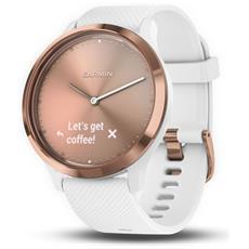 Smartwatch Vívomove Hr Impermeabile 5ATM Bluetooth con Contapassi e Cardiofrequenzimetro Taglia S / M Bianco - Europa