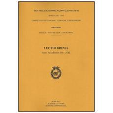 Lectio brevis (anno accademico 2012)