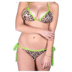 Bikini Donna Triangolo Animalie Fantasia Verde M