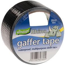 Rhino Nastro Da Imballaggio In Tela Impermeabile Pacco Da 6 (taglia Unica) (nero)