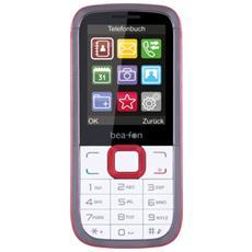 "C140 Bianco / Rosso Dual Sim Display 2.4"" Bluetooth Fotocamera e RadioFM - Europa"