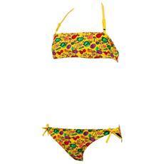Bikini Bambina Little Fruit Bandeau Giallo 10a