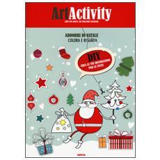 Art activity. Addobbi di Natale. Colora e ritaglia