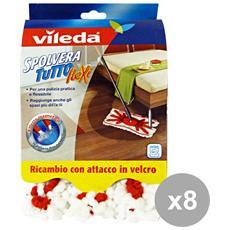 Set 8 Spolveratutto Ricambio Flexi Attrezzi Pulizie